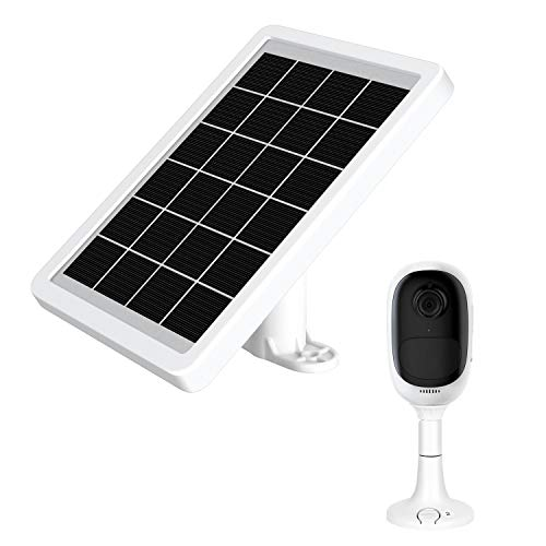 SmartRewin High Efficiency Monocrystalline Solar Panel Compatible with Reolink Camera,White