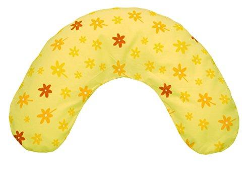 Theraline 03004100 Bezug für Nackenkissen mittel, 100 x 21 cm, blümchen gelb
