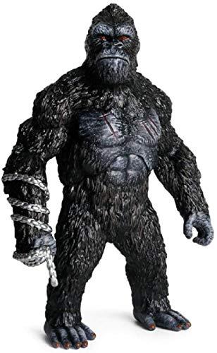 cheaaff Anime Modell Statueanimal King Kong Schädel Lsland Gorilla Orang-Utan AFFE PVC Actionfigur Nette Sammlung Tiermodell Spielzeug 31 * 21Cm