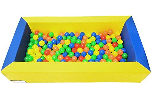 koenig-tom Schaumstoff Bällebadpool Drypool Ballpoolinkl. 300 Bällebad Bällen( Tüv geprüft und Zertifiziert 2019)