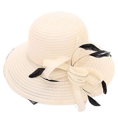 Tocado para mujer, sombreros de organza con plumas de cristal, flor de piel, 1 pieza para boda, fiesta de noche, tocado