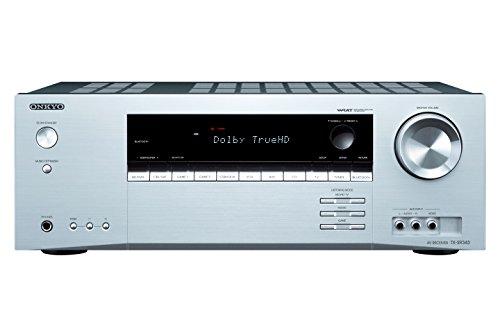 Onkyo TX-SR343 (S) AV-Receiver (5.1-Kanal, 100 Watt, 4X HDMI, 4K Ultra HD, HDCP 2.2, Bluetooth, Audiostreaming) Silber