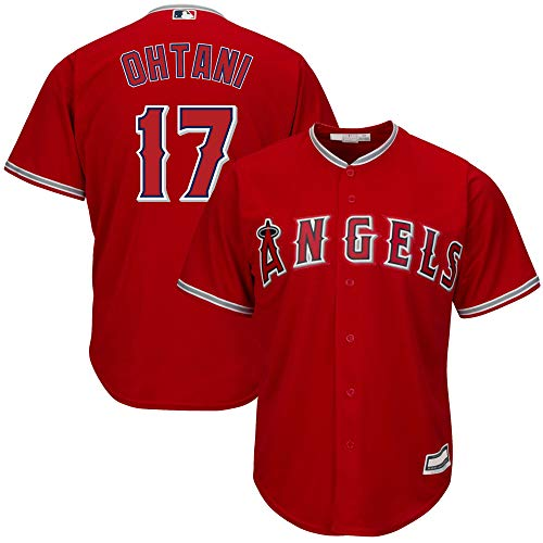 Outerstuff Shohei Ohtani Los Angeles Angels MLB Boys Youth 8-20 Player Jersey (Red Alternate, Youth X-Large 18-20)