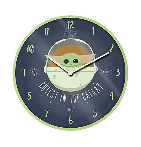 Pyramid International International Clock - Star Wars: The Mandalorian (Cutest In The Galaxy), 5050293854540, Mehrfarbig, 40x40