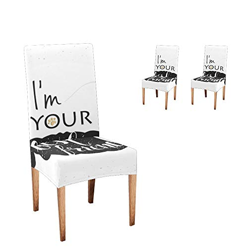 Anneunique Chair Covers for Dining Room,Custom Best Friends Protector Comfort Soft Seat Covers Slipcovers for Party Decor (Set of 2)
