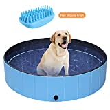POTBY Foldable Pet Swimming Pool, Portable Collapsible Dog Bathing...