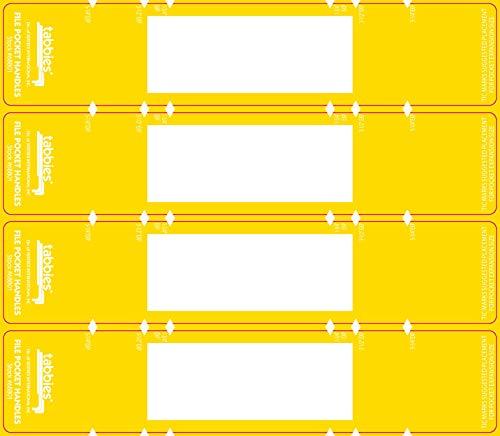 Tabbies Legal File Pocket Handle, Yellow, 9-5/8