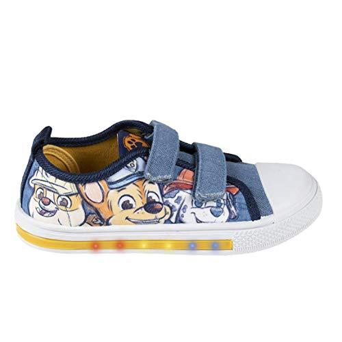 Cerdá 2300004863_T025-C56, Zapatillas de Lona Bajas para Niños de la Patrulla Canina-Licencia Oficial Nickelodeon, Azul, 25 EU