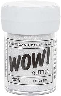 American Crafts 27326 Glitter, Extra Fine White