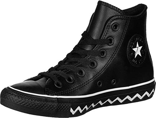CONVERSE Chuck Taylor All Star VLTG Mono Leather HI Zapatillas Moda Mujeres Negro - 36 - Zapatillas Altas