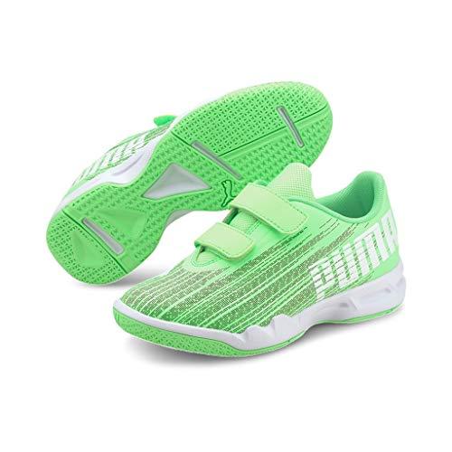 PUMA Adrenalite 4.1 V Jr Kinder Handballschuhe grün schwarz weiß UK 13 EU 32