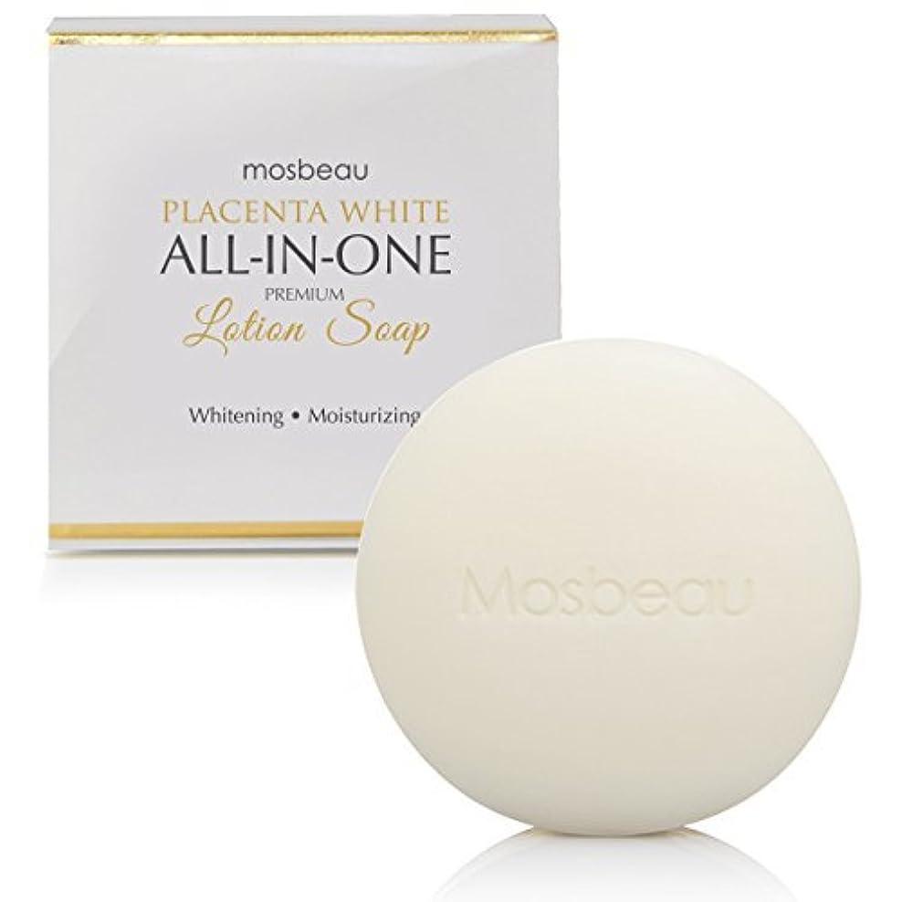高架投票懐mosbeau Placenta White ALL-IN-ONE  PREMIUM LOTION Soap 100g モスビュー プラセンタホワイトホワイト オールインワン プレミアムローションソープ