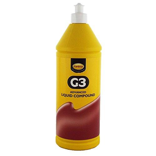 Farecla G3Advanced líquido compuesto 1L Litro Botella de 1litro coche compuesto de lija para eliminar arañazos de luz y remolinos restaura Antiguas Pintura Trabajo a la True Color