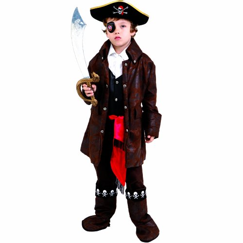 Dress Up America Niedliches Karibik-Piratenjunge-Kostüm