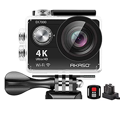 AKASO EK7000 4K WiFi Sports Action Camera Ultra HD Waterproof DV Camcorder 12MP 170 Degree Wide Angle (Renewed) by AKASO