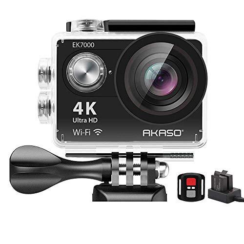 AKASO EK7000 4K WiFi Sports Action Camera Ultra HD Waterproof DV Camcorder 12MP 170 Degree Wide Angle (Renewed)