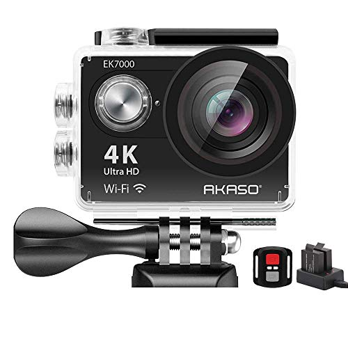 AKASO EK7000 4K WiFi Sports Action Camera Ultra HD Waterproof DV Camcorder 12MP 170 Degree Wide Angle (Renewed)