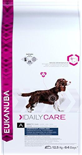 Eukanuba Daily Care Adulto - Alimento seco para perros con sobrepeso y esterilizados, 12,5 kg