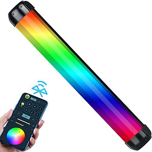 RGB Luce Video LED Tubo Stick Fotografia con Bluetooth Controllo app per Vlog YouTube TikTok (360° colore pieno 2500K ~ 8500K batteria integrata)