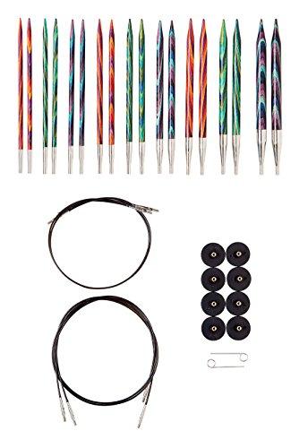 Knit Picks Options Wood Interchangeable Knitting Needle Set - US 4-11 (Mosaic)