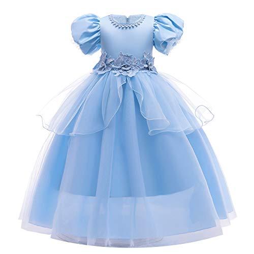 MYRISAM Nias Disfraz de Carnaval Vestidos de Princesa Cenicienta Traje de Halloween Navidad Cumpleaos Fiesta Ceremonia Aniversario Cosplay Cinderella Costume 4-5