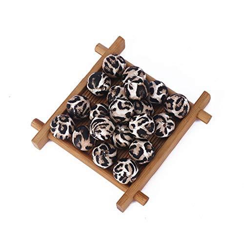Perlas de silicona con diseño de camuflaje, para manualidades, juguete mordedor colorido, 10 unidades, 12 mm, 6 unidades