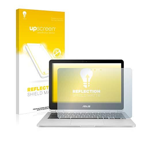 upscreen Entspiegelungs-Schutzfolie kompatibel mit Asus Chromebook Flip C302 – Anti-Reflex Displayschutz-Folie Matt