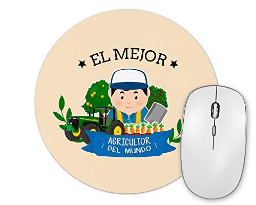 Planetacase Alfombrilla De Ratón El Mejor Agricultor del Mundo Regalo Original Agricultores Forma Redonda 20 Cm