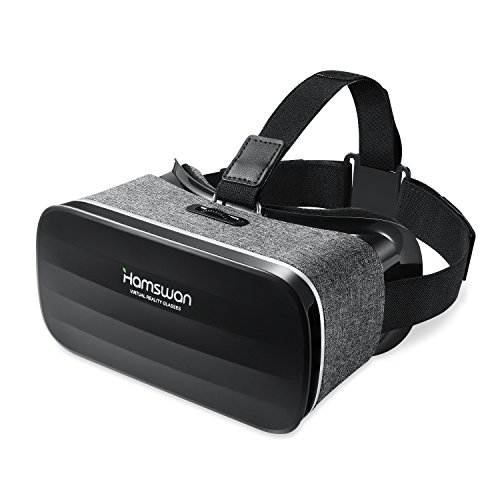 HAMSWAN 3D VR Goggles, Virtual Reality Headset with Unique Design and Multifunction Button Compatible with Smartphones Within 4.0-6.11 inch