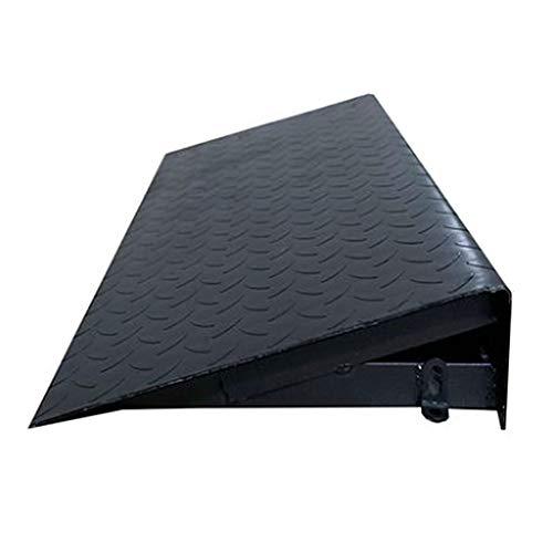 WXJ 6-12 cm Hohes Stufenrampen-Stahlplattenmaterial Mit Verdicktem Muster Für Rollstühle, Mobilitätsroller Und Elektrorollstühle Mit Expansionsschraube Schwarz/Grün
