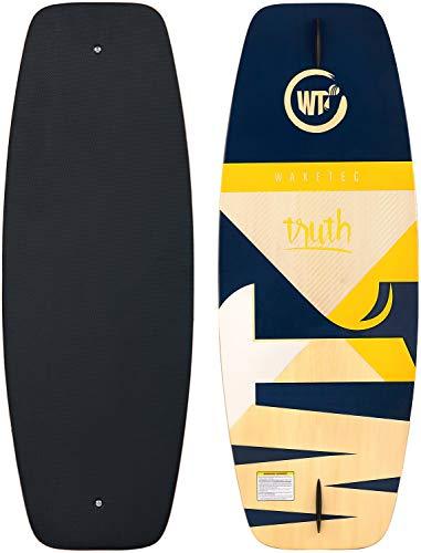 WAKETEC Wakeskate Truth 43'', Eva Flat-Deck Board, Länge 109,9 cm, bis 100 kg Körpergewicht, blau gelb