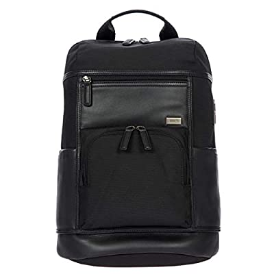 Bric's Monza Urban Laptop|Tablet Business Backpack, Black/Black, One Size