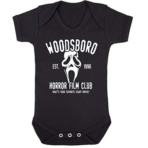 Cloud City 7 Scream Woodsboro Horror Film Club Baby Grow Korte mouw
