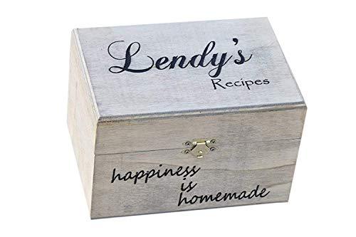 Personalized Recipe Card Box - Personalized Gift - Rustic Home Decor - Recipe Holder - Recipe Card Holder - Recipe Box