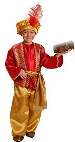 El Rey del Carnaval Disfraz de PAJE Real Rojo para Niño