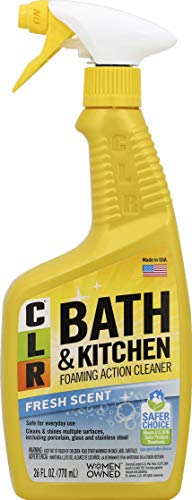 CLR Bath and Kitchen Cleaner, Fresh Scent, spray bottle, 26 Ounce