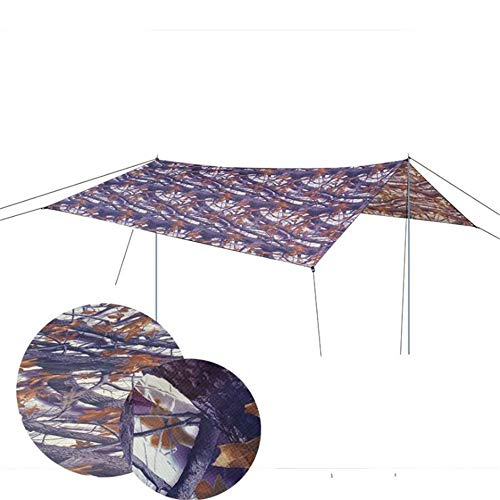 Family Tent Portable Camping Tarp Shelter 9.8x9.6 Feet Waterproof Hammock Rain Fly Tent With Stakes Poles Ropes Survival Gear Kit For Backpacking Fishing Outdoor Tent