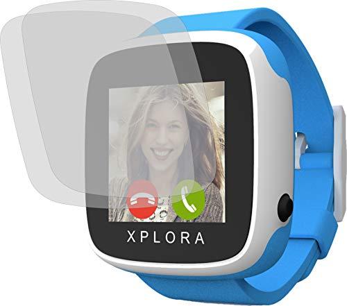 4ProTec I 2X Crystal Clear klar Schutzfolie für Xplora Go Bildschirmschutzfolie Displayschutzfolie Schutzhülle Bildschirmschutz Bildschirmfolie Folie