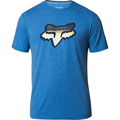 Fox Racing Men's Head Strike Tech Shirts,Large,Heather Royal