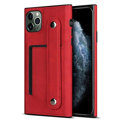 Schutzhülle für iPhone 11 Pro Max (16,5 cm / 6,5 Zoll), PU-Leder, Rot