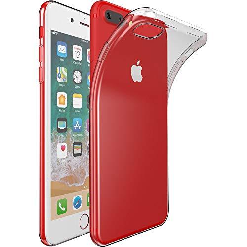 ebestStar - Funda Compatible con iPhone 7 Plus, iPhone 8 Plus Carcasa Silicona, Protección Crystal Clear TPU Gel, Ultra Slim Case, Transparente [Aparato: 158.2/158.4 x 77.9/78.1 x 7.3/7.5mm, 5.5'']