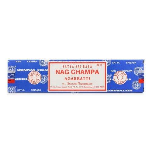 Nagchampa 89018020010230 Satya Sai Baba Räucherstäbchen, 12 boxes * 12 sticks: 144 stick, 15g*12 boxes=180g, schwarz, 1 x 1 x 1 cm