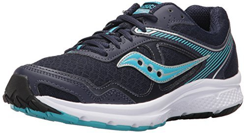 Saucony Women's Cohesion 10 Running Shoe, Navy Blue, 10 Medium US