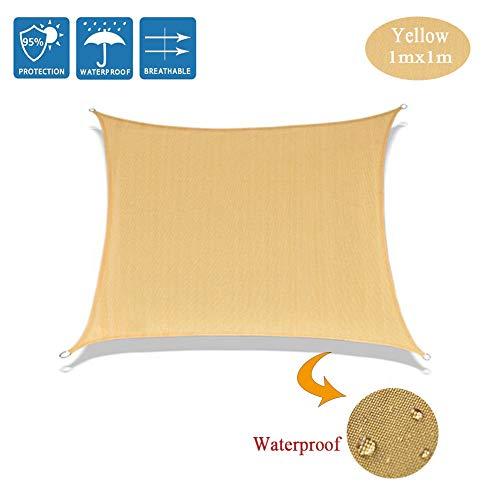 Toldo rectangular, lona impermeable, protección de los rayos UV al 95 %, para exteriores, jardín y terraza, césped, decoración, color beige