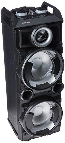 Multilaser SP282 Caixa De Som Torre Double 8 BT/FM/USB/SD/AUX Microfone 300W, Preto