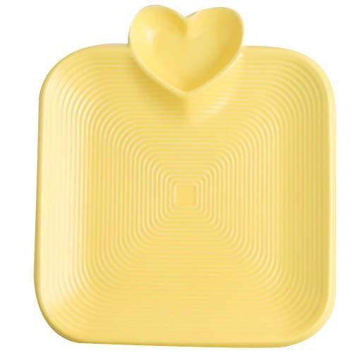 Hemoton 1Piatto di Ceramica con Griglia di Salsa Piatti di Antipasto Durevoli Creativi Vassoio di Snack Piatto di Salsa di Ceramica per Cucina Ristorante di Casa Negozio