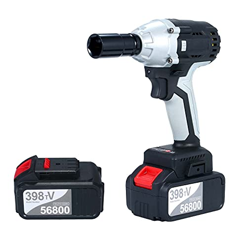 TERMALY Cordless Impact Wrench,Impact Driver, 380Nm Lithium-Ion Cordless Combi Drill with LED Diffuse Lighting