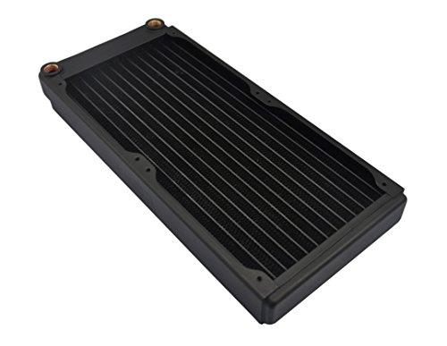 XSPC EX280 Carcasa del Ordenador Enfriador - Ventilador de PC (Carcasa del Ordenador, Enfriador, 14 cm, 2 Ventilador(es), Negro, 143 mm)