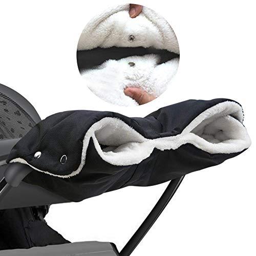 Kinderwagen Handwärmer,Softshell Handwärmer,Kinderwagen warme Handschuhe modifizierte Version des Wagens aus dem Wind und Frostschutzhandschuhe,Universalgröße für Kinderwagen, Buggy