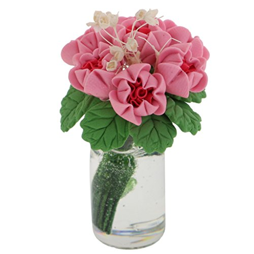 1:12 Vase mit Blumen 4,5 cm hoch Preis pro Stück für die Puppenstube